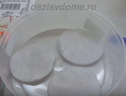 Ватные диски для замачивания семян
