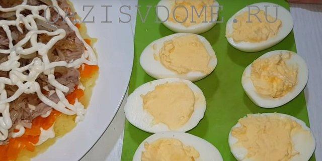 Яйца для салата Сугробы