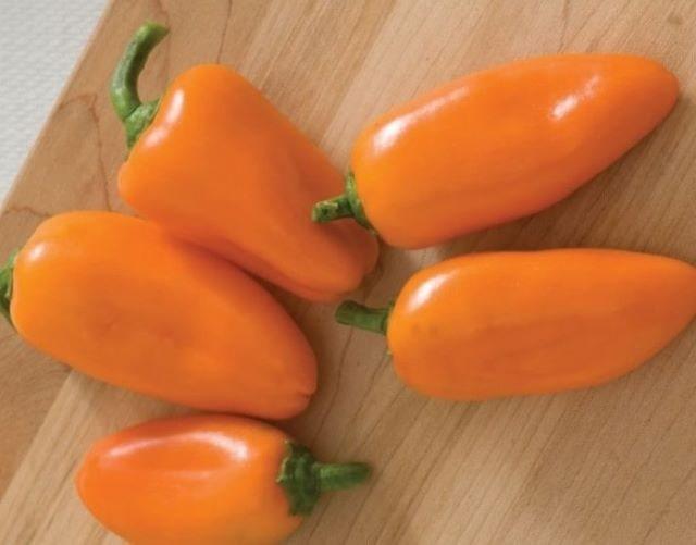 На фото сладкий перец Янтарь