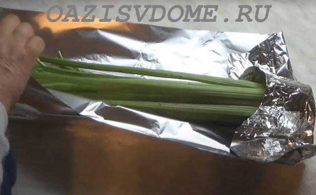 Подготовка к хранению черешкового сельдерея