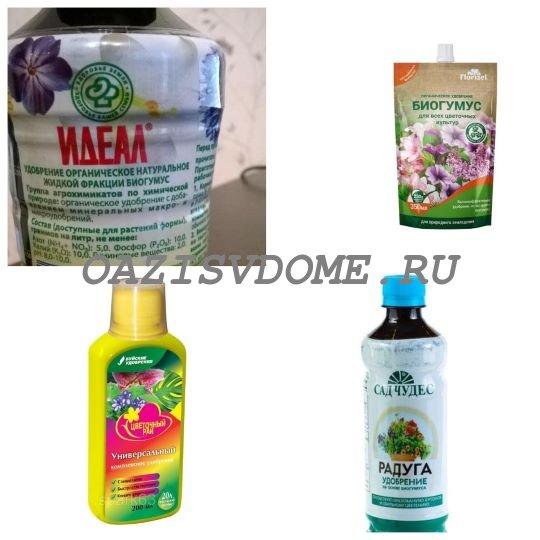 Удобрения органические для домашних цветов